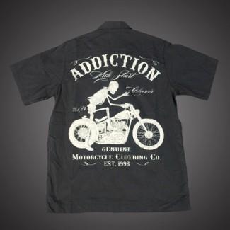 Bikers Work Shirt - Riding Skull