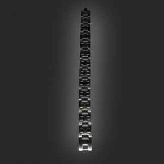 Stainless Steele Square Link-Blk Middle