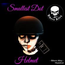 DOT Matte Black Beanie Helmet