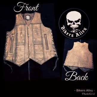 Distressed Leather Vest