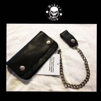 Soft Leather Wallet With Chain