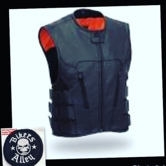 Soft Leather Tactical Vest