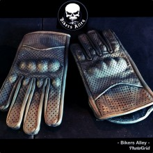 Men's Leather Glove With Knuckle Armour