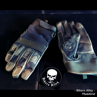 Leather/Stretch Riding Glove