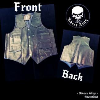 Men's Plain Leather Vest