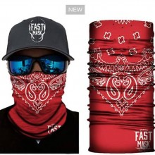 Red Facemask With Design