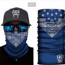 Blue Face Mask With Design