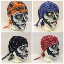 Blue/Red/Orange/Black Skull Cap
